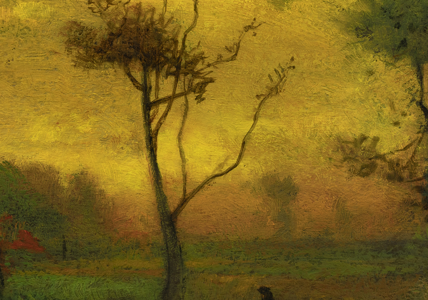 Study after George Inness - Sunrise by M Francis McCarthy - 7x10 (Detail)