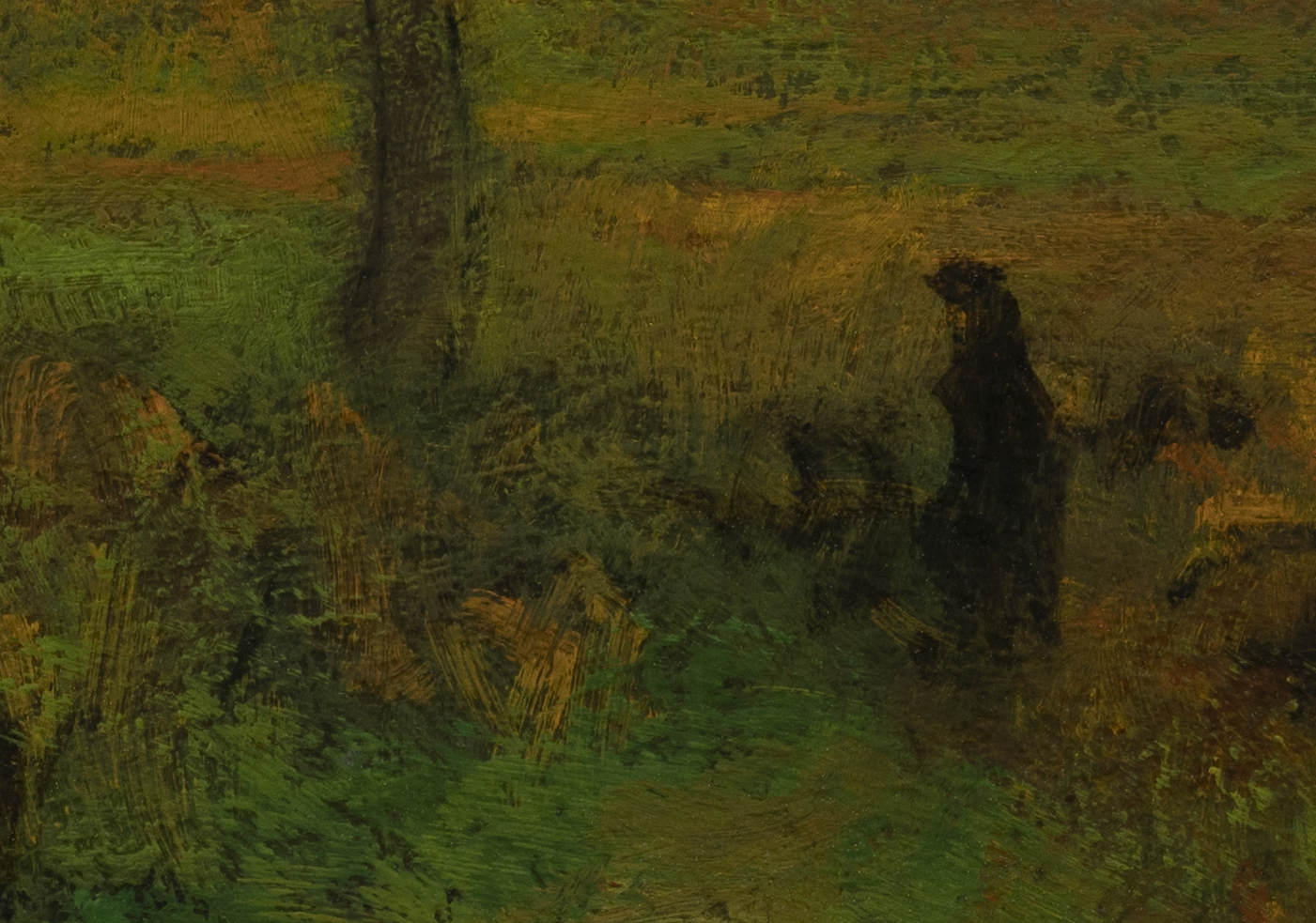 Study after George Inness - Sunrise by M Francis McCarthy - 7x10 (Detail 2)