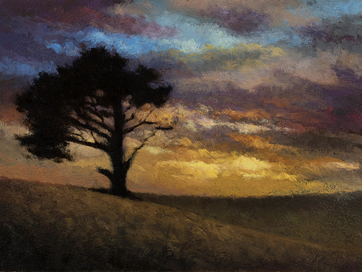 Twilight Color by M Francis McCarthy - 6x8 Oil on Wood Panel
