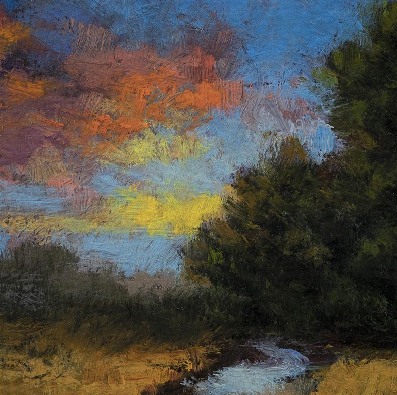 Morning Stream by M Francis McCarthy - 3½x3½ (Detail)