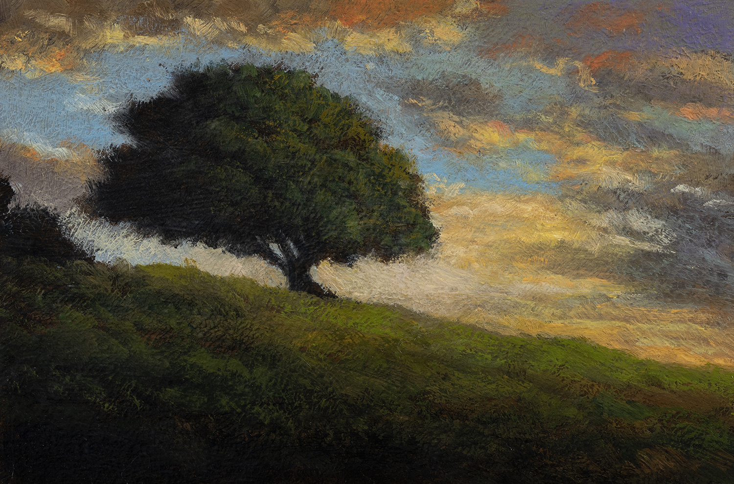 Nearing Twilight by M Francis McCarthy - 4x6 Oil on Wood Panel