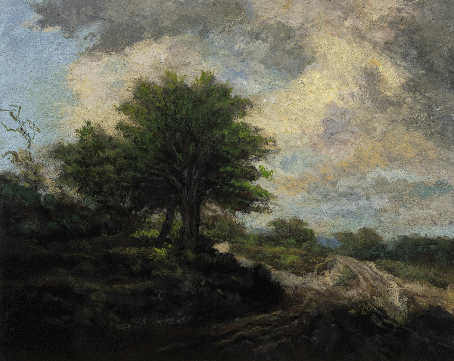 Study after Jacob van Ruisdael Landscape by M Francis McCarthy - 8x10 Oil on Wood Panel