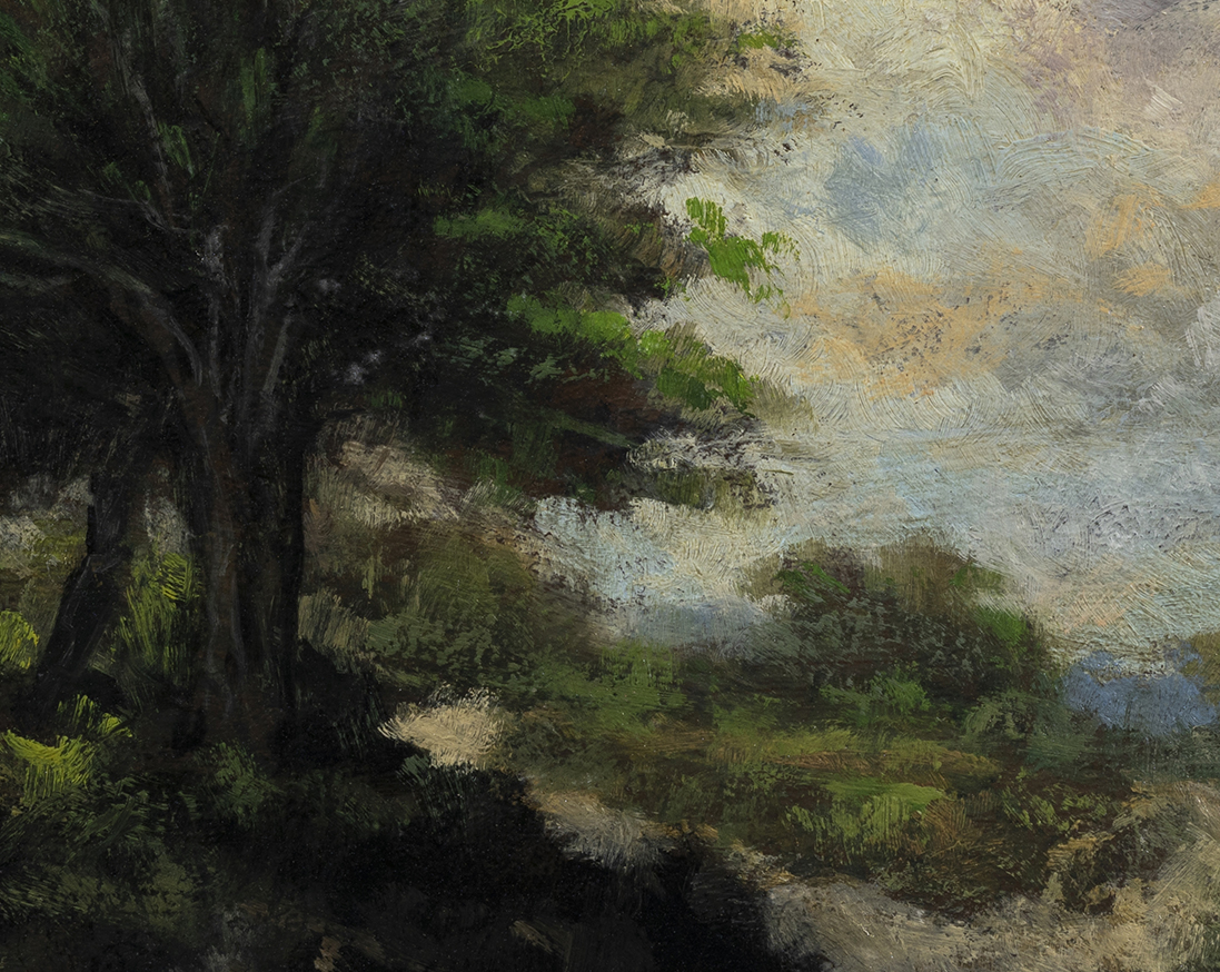 Study after Jacob van Ruisdael Landscape by M Francis McCarthy - 8x10 (Detail)