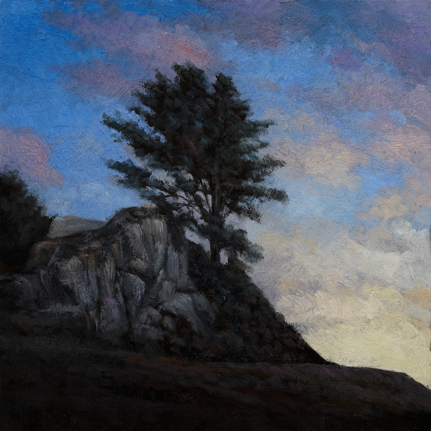 Evening is Coming by M Francis McCarthy - 8x8 Oil on Wood Panel