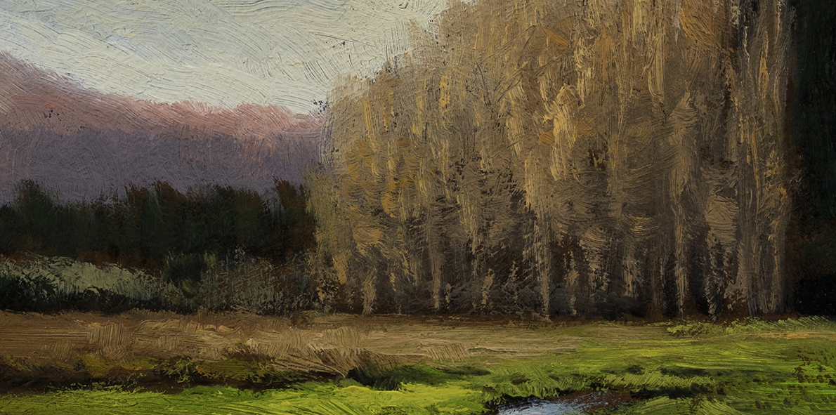 Meadow Stream by M Francis McCarthy - 5x10 (Detail)