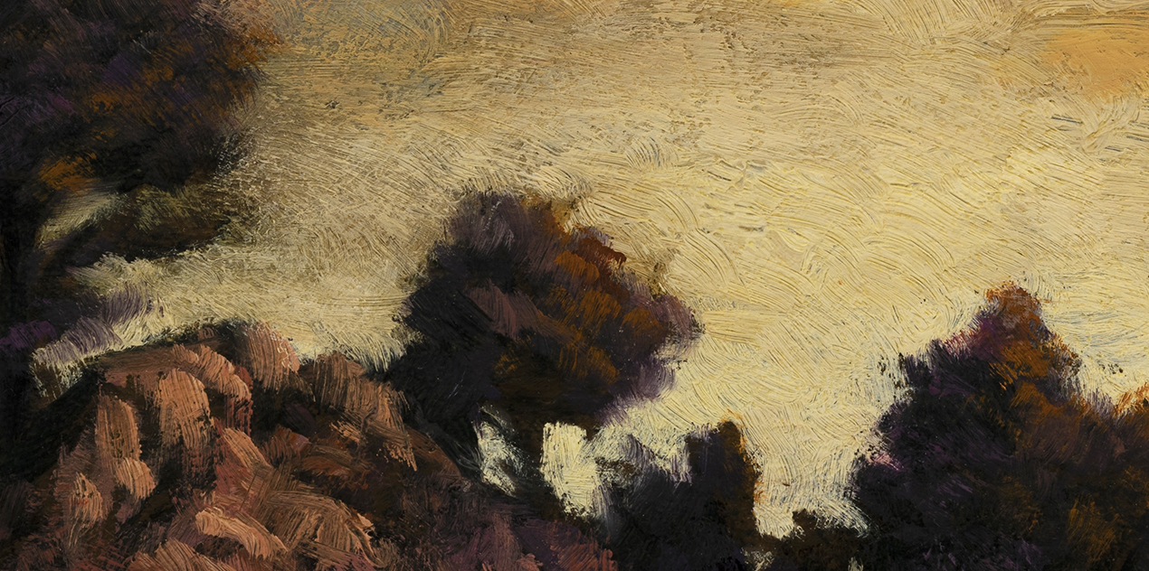 Close to Dusk by M Francis McCarthy - 5x10 (Detail)