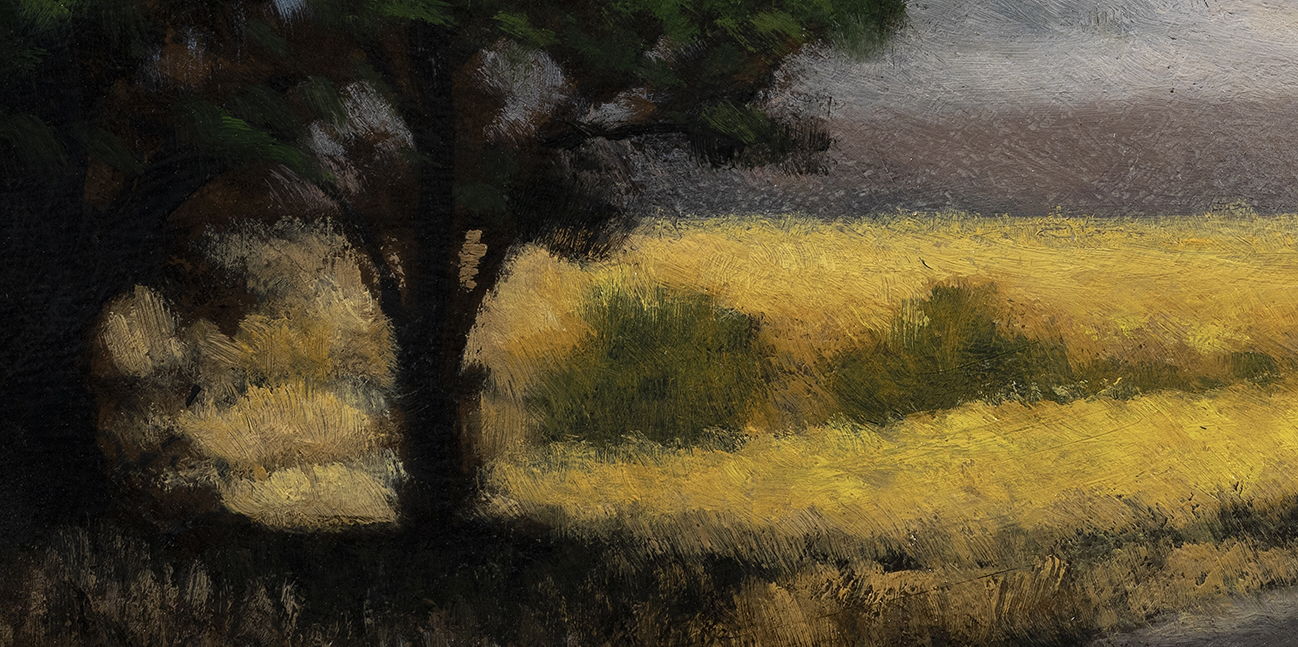 Golden Field by M Francis McCarthy - 5x10 (Detail)