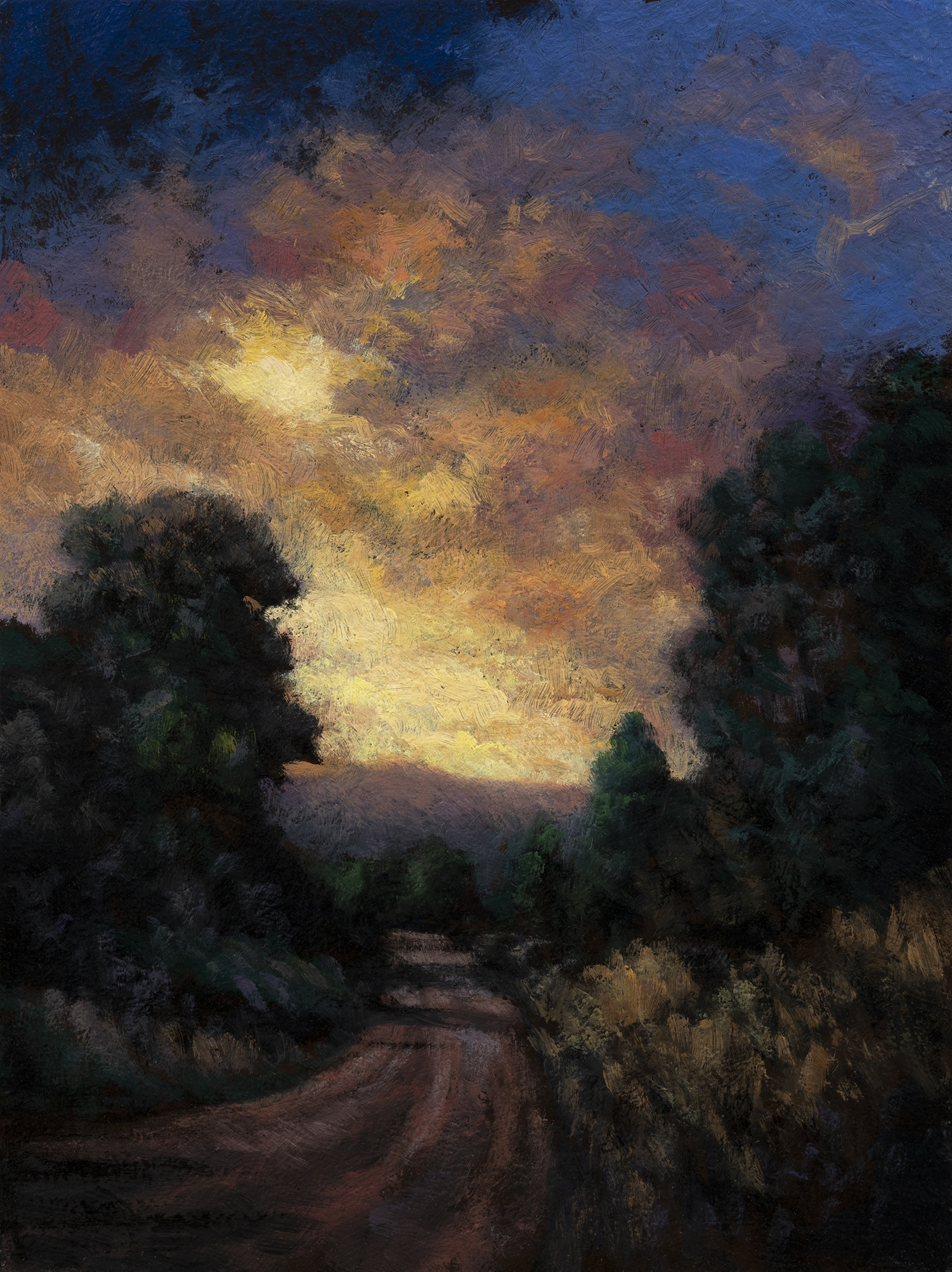 Light through the Storm by M Francis McCarthy - 6x8 Oil on Wood Panel