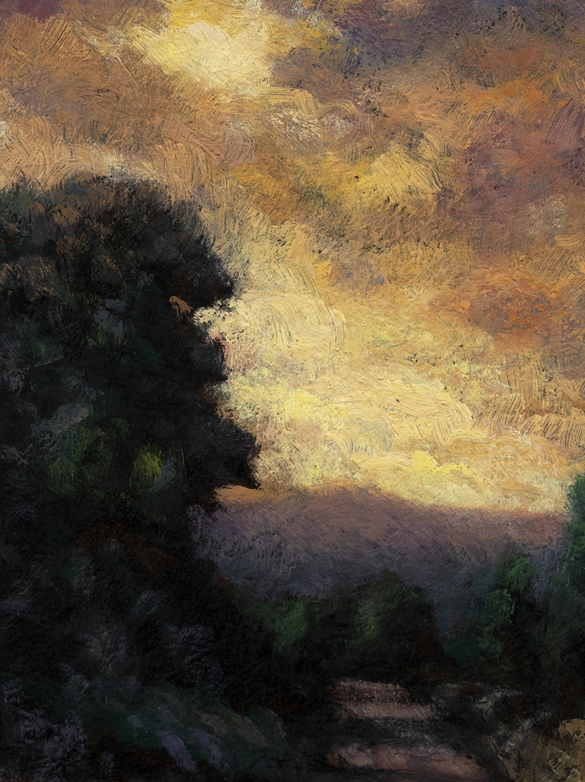 Light through the Storm by M Francis McCarthy - 6x8 (Detail)