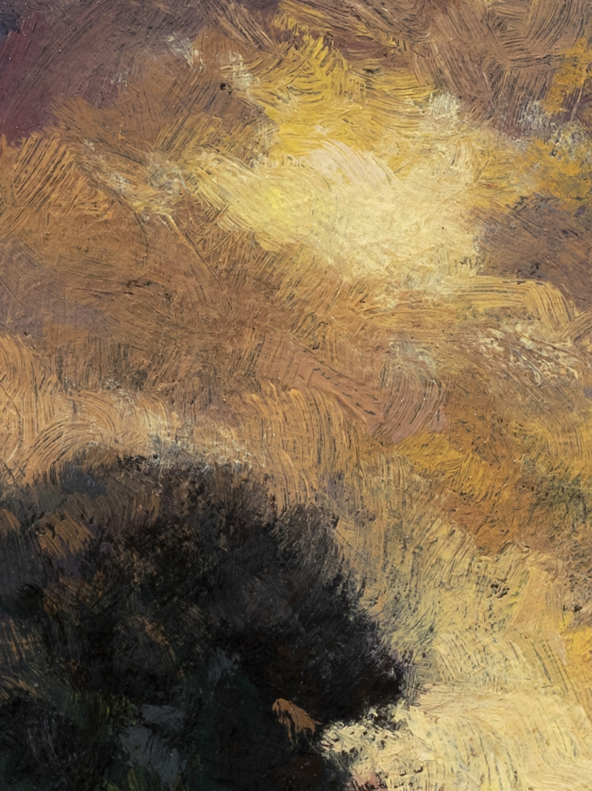 Light through the Storm by M Francis McCarthy - 6x8 (Detail 2)