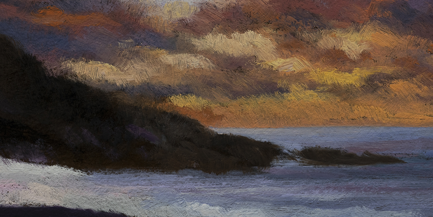 Twilight by the Sea by M Francis McCarthy - 5x10 (Detail)