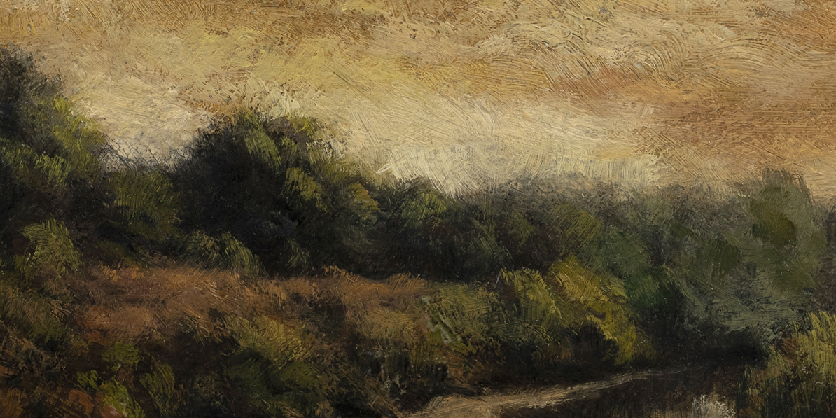 Summer Creek by M Francis McCarthy - 5x10  (Detail)