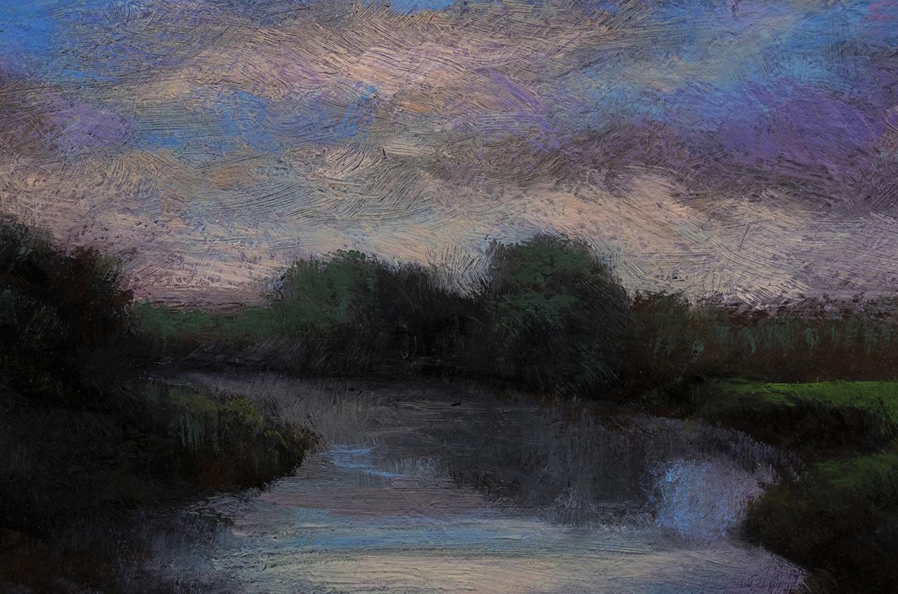 Morning Lake by M Francis McCarthy - 4x6 (detail)