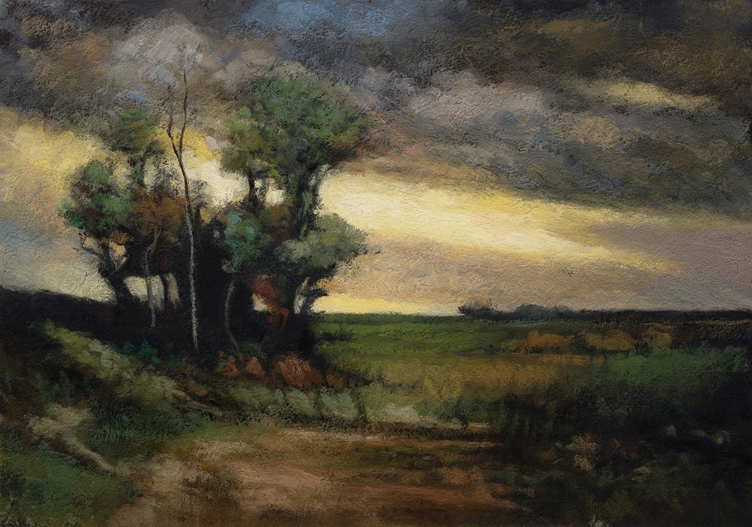 John Francis Murphy Landscape by M Francis McCarthy - 7x10 Oil on Wood Panel