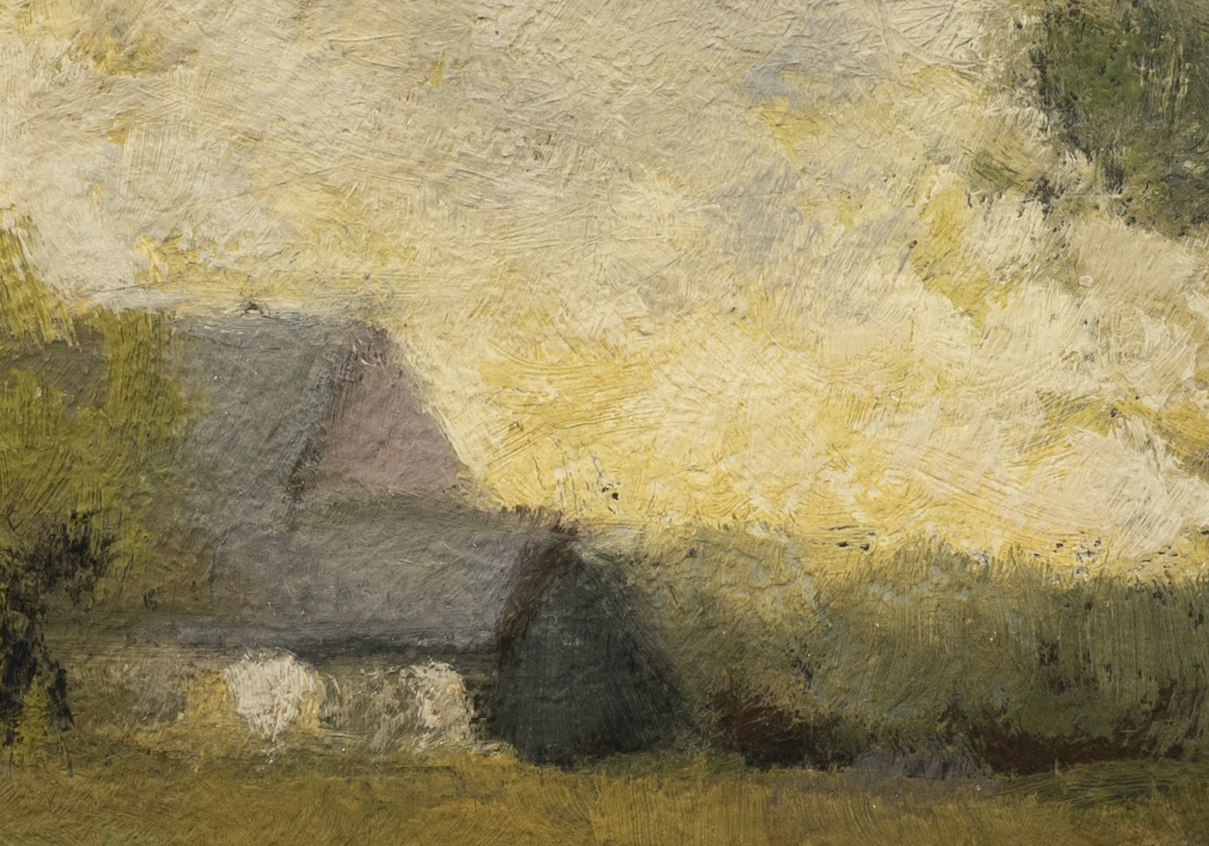 Study after: Alexander H Wyant Arkville Landscape by M Francis McCarthy - 7x10 (Detail 2)