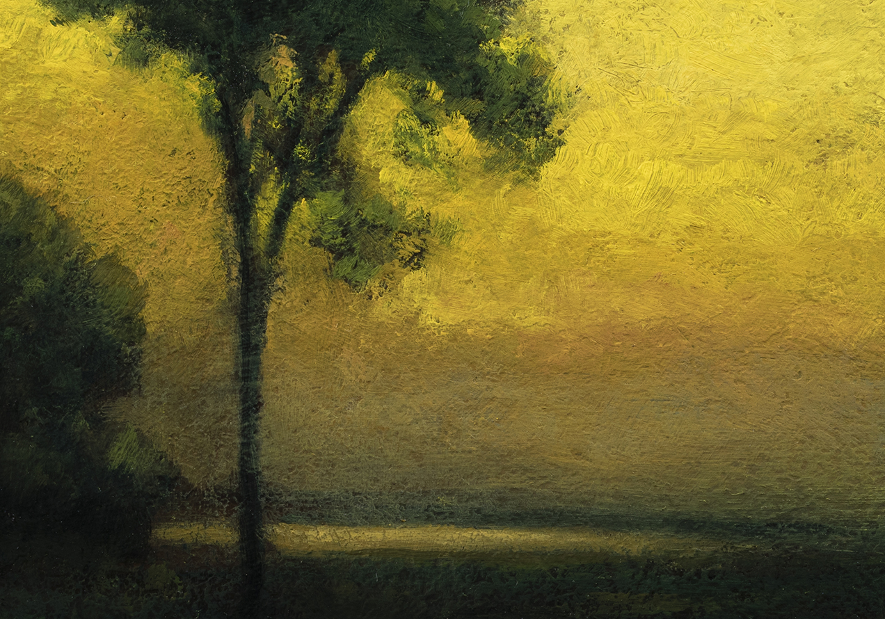 Study after: George Inness Sunrise by M Francis McCarthy - 7x10 (detail)