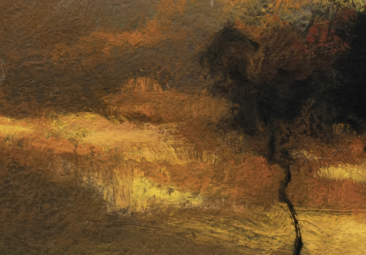 Study after:John Francis Murphy Sunset Landscape by M Francis McCarthy -7x10 (Detail 2)