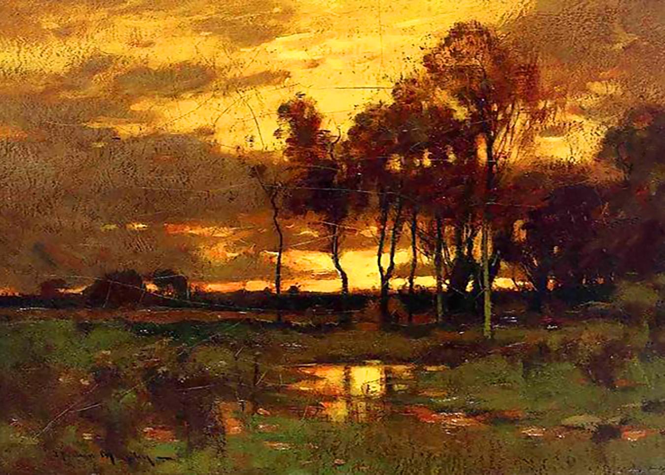 John Francis Murphy Sunset Landscape (Original)