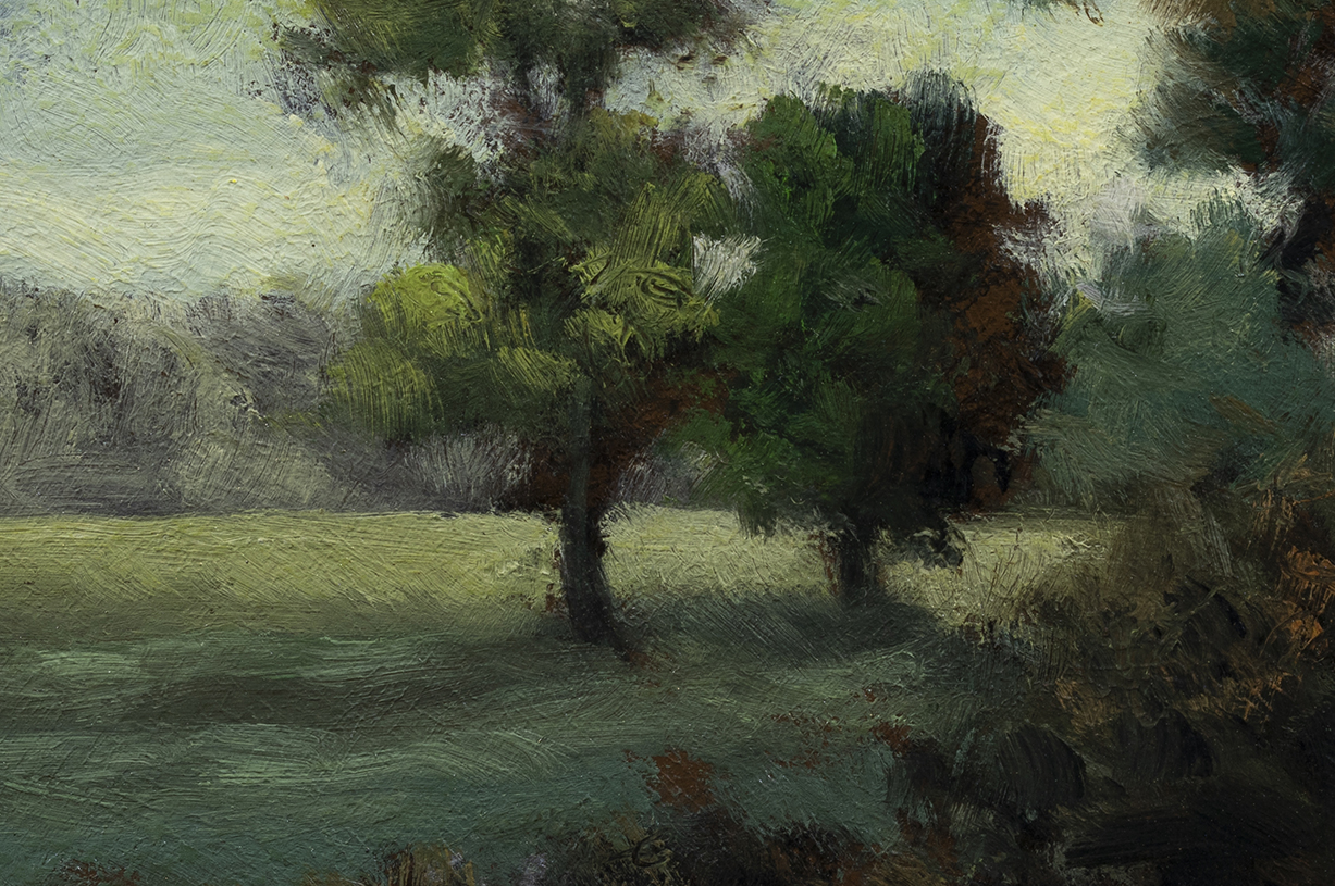 Edge of the Pasture by M Francis McCarthy - 4x6  (detail)
