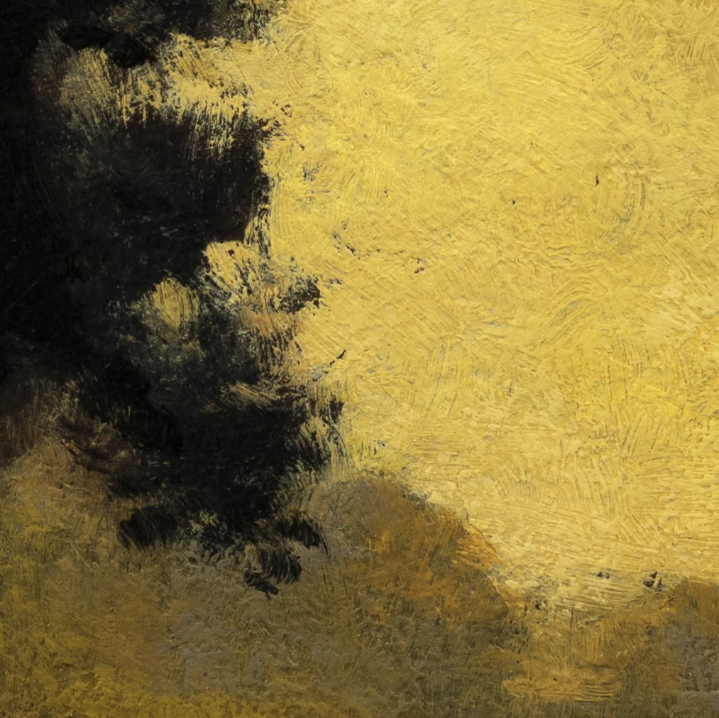 Study after Ralph Albert Blakelock Moonlight by M Francis McCarthy - 8x8 (Detail 2)
