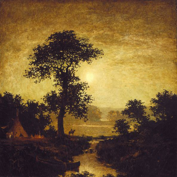 Ralph Albert Blakelock Moonlight (Original)