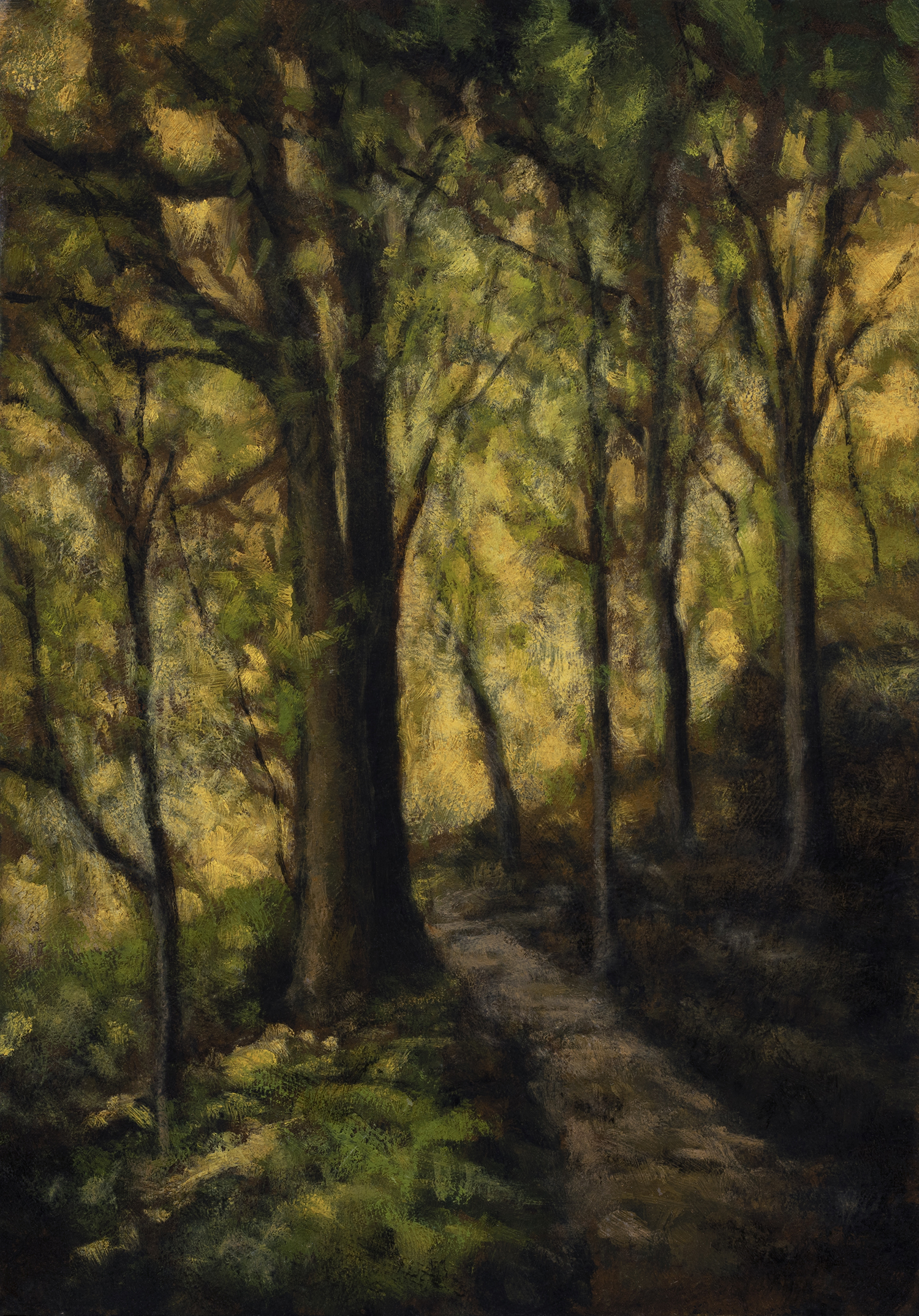 Forest Trail by M Francis McCarthy - 7x10 Oil on Wood Panel