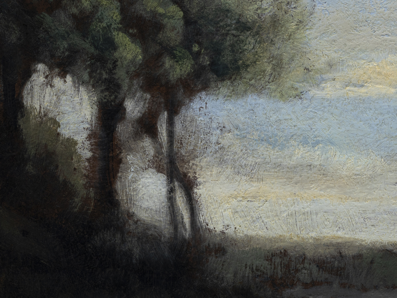 Study after: Camille Corot Evening by M Francis McCarthy - 6x8 (Detail)