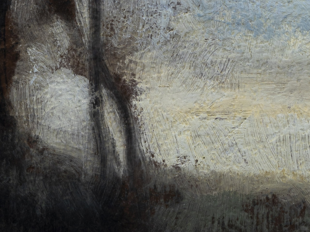 Study after: Camille Corot Evening by M Francis McCarthy - 6x8 (Detail 2)
