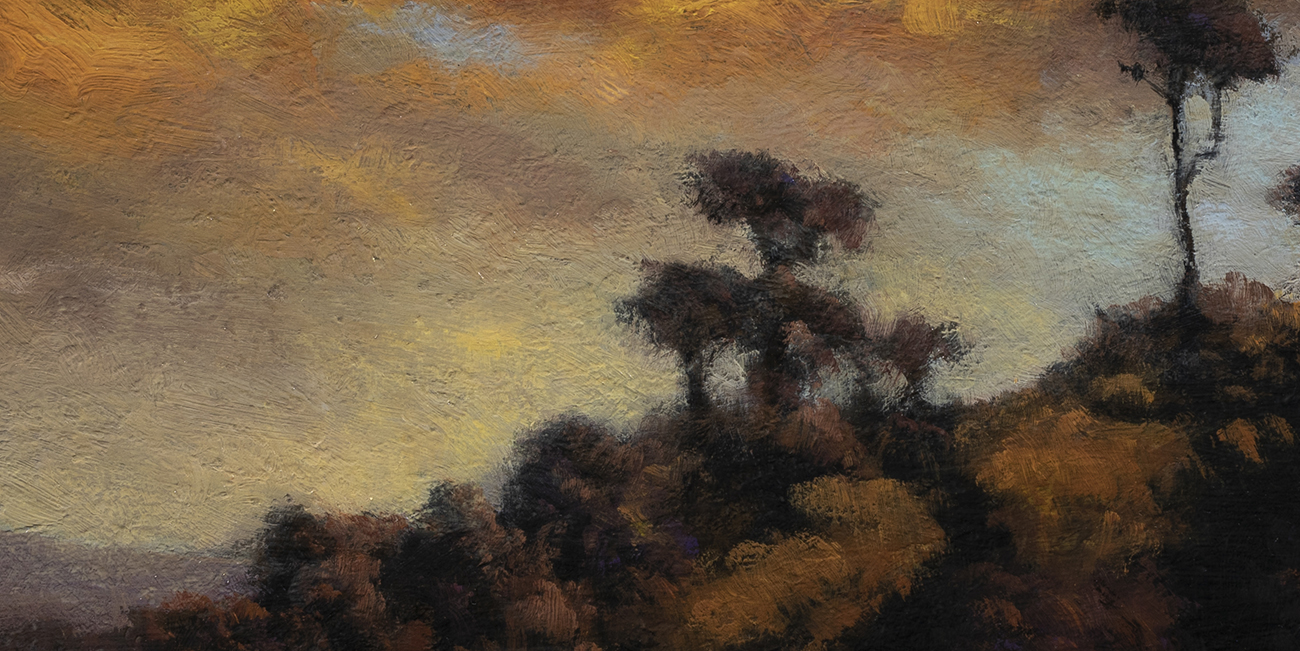 Sunset after a Storm by M Francis McCarthy - 7x14 (Detail)