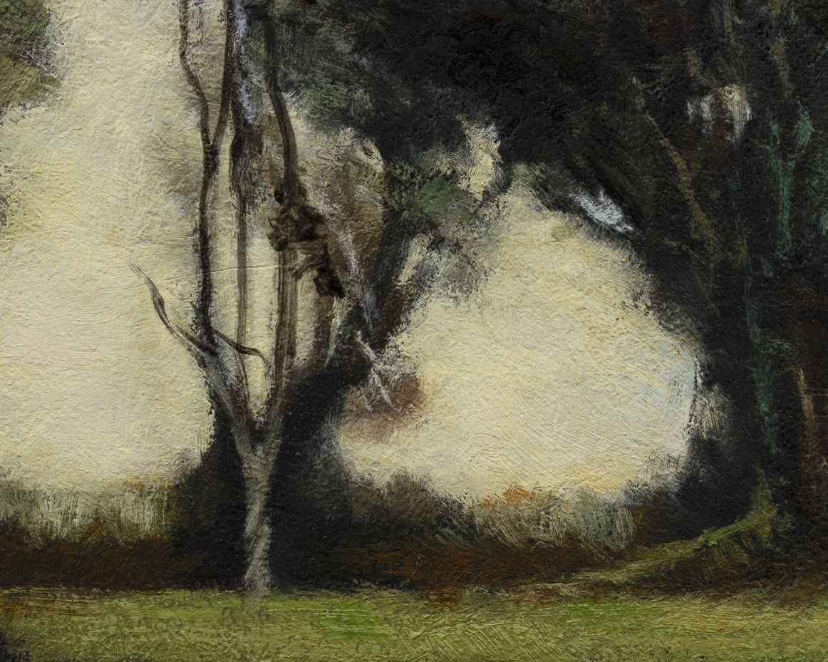 Study after Camille Corot Landscape by M Francis McCarthy - 8x10 (Detail)