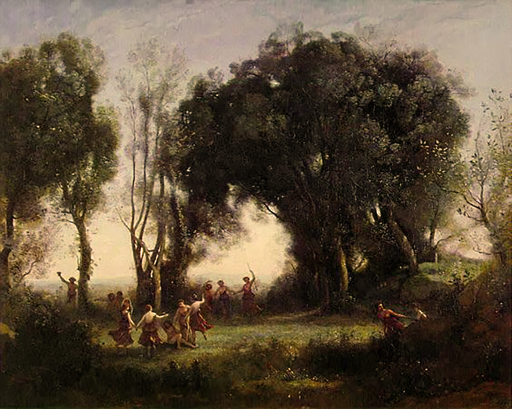 Camille Corot Landscape (Original)