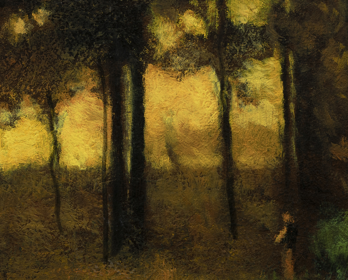 Study after George Inness Sunset in Georgia by M Francis McCarthy - 8x10 (Detail)