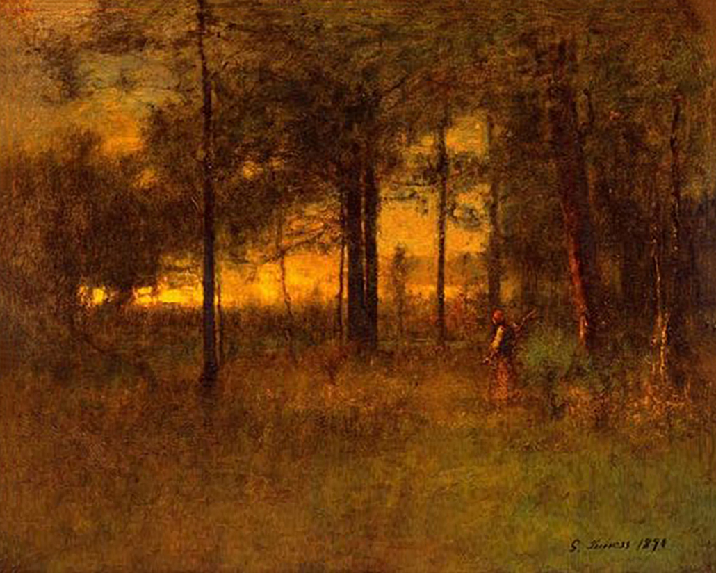 George Inness Sunset in Georgia (Original)