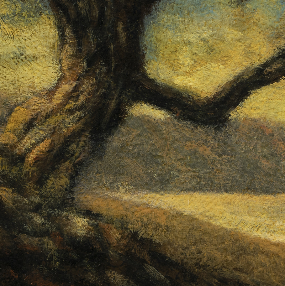 Tree by Bay by M Francis McCarthy - 5x5 (Detail)