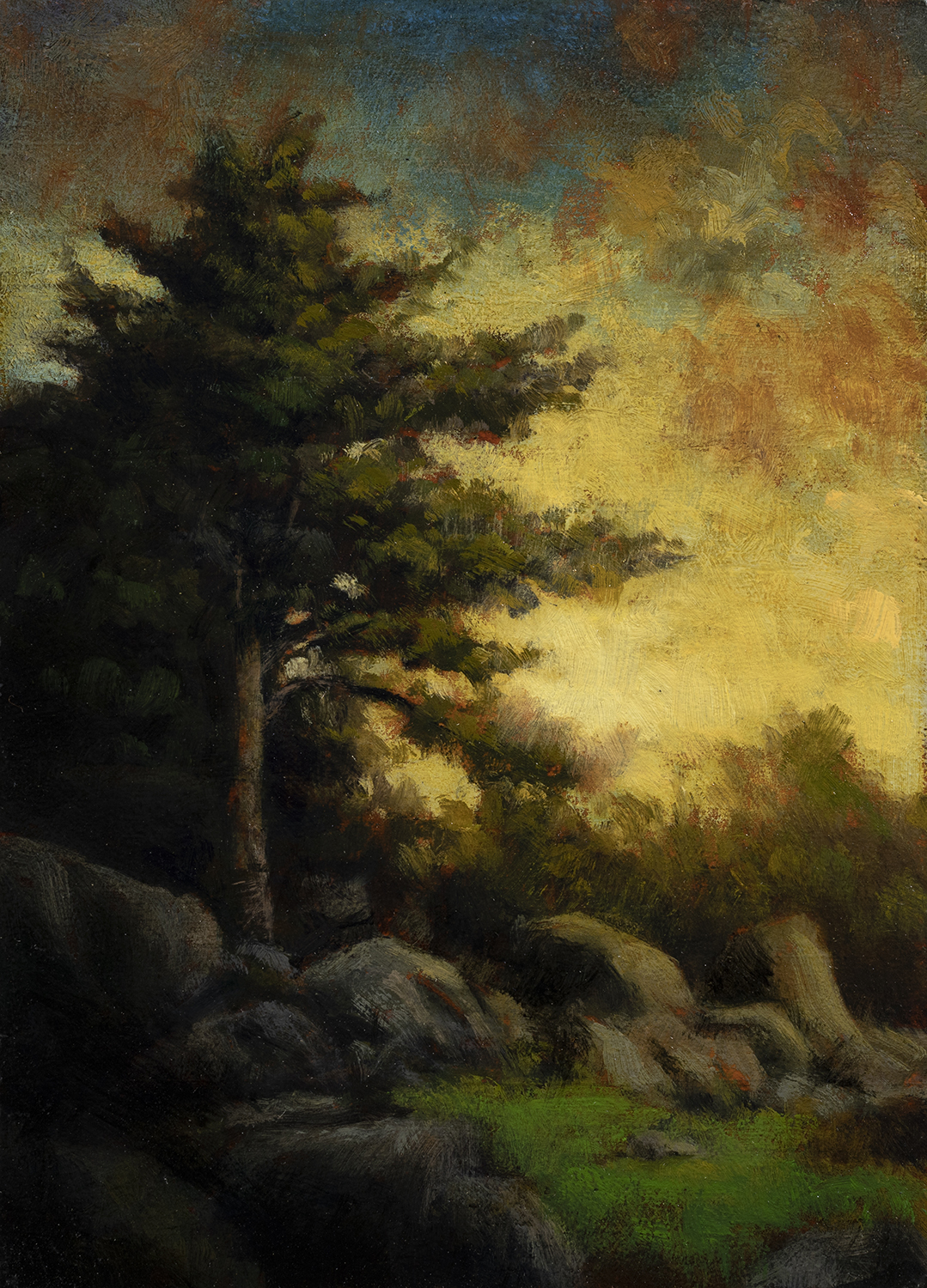 Spring Evening by M Francis McCarthy - 5x7 Oil on Wood Panel