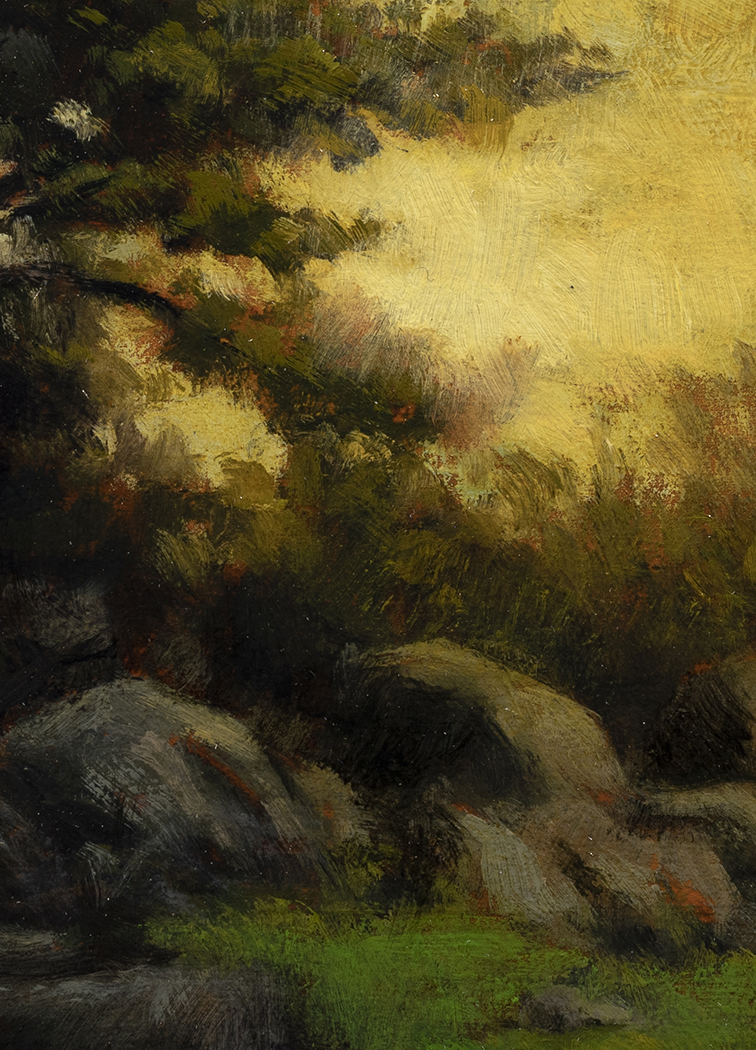 Spring Evening by M Francis McCarthy - 5x7 (Detail)