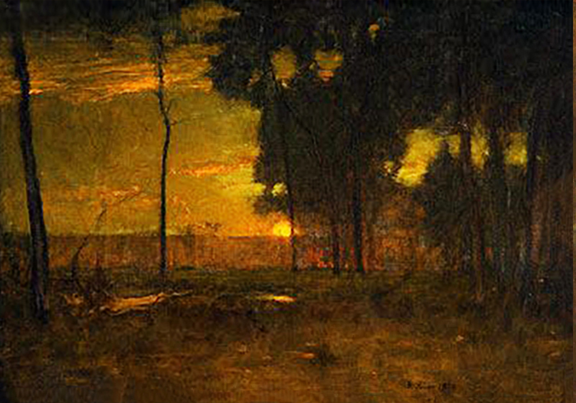 George Inness Sunset in the Old Orchard (Original)