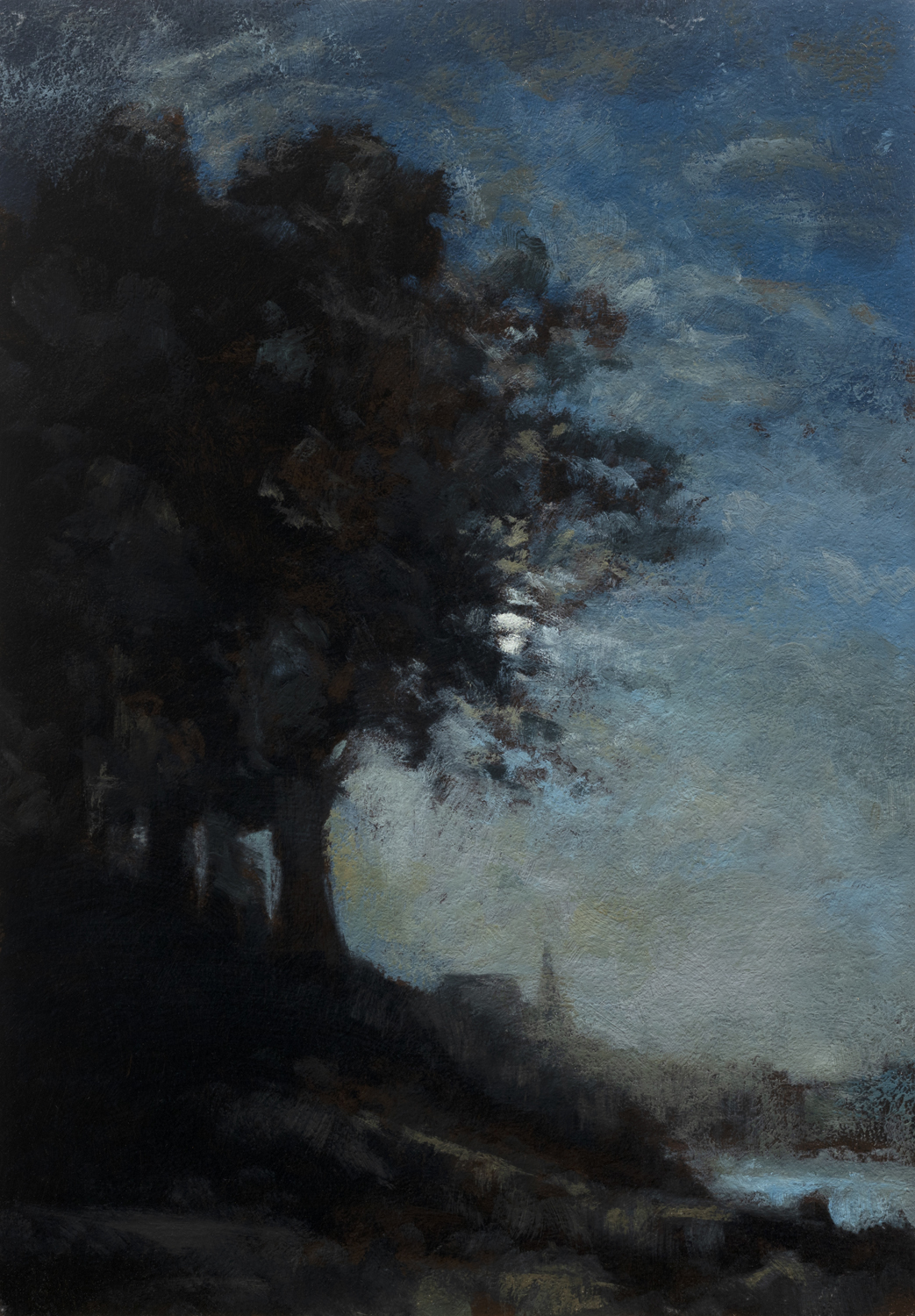 Study after: Camille Corot Lisere de Bois by M Francis McCarthy - 7x10 Oil on Wood Panel
