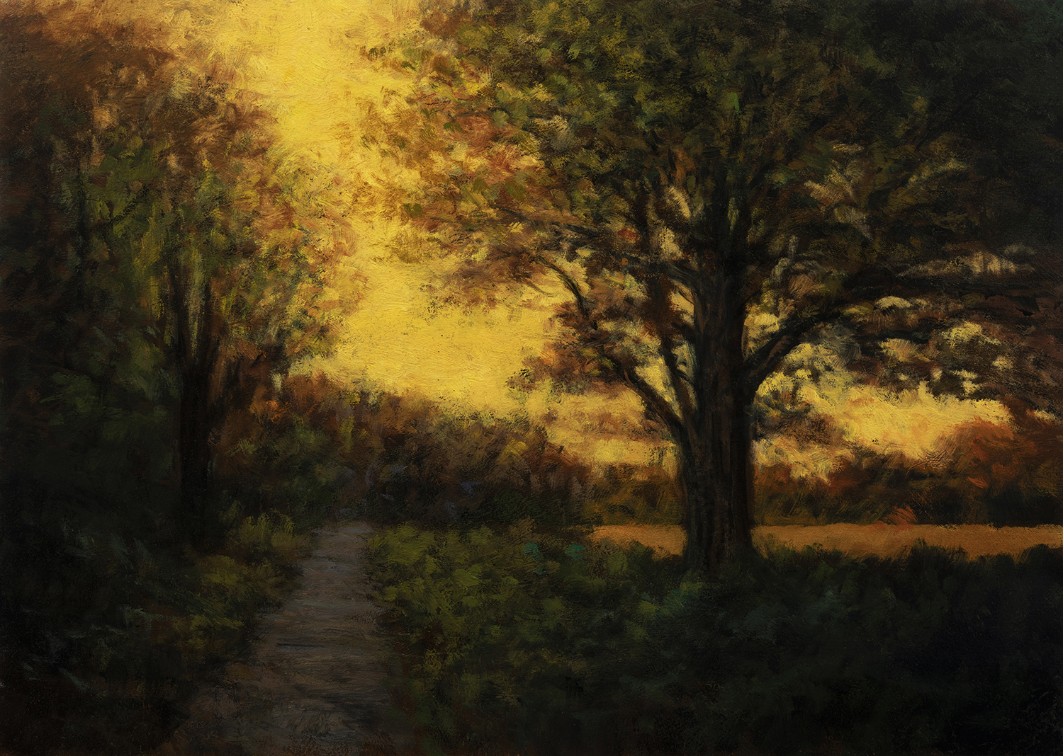 Golden Hour by M Francis McCarthy - 10x14 Oil on Wood Panel