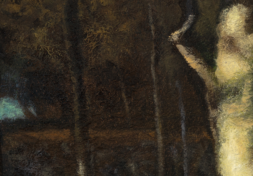 Study after: George Inness Sunset in the Woods by M Francis McCarthy -7x10 (Detail)