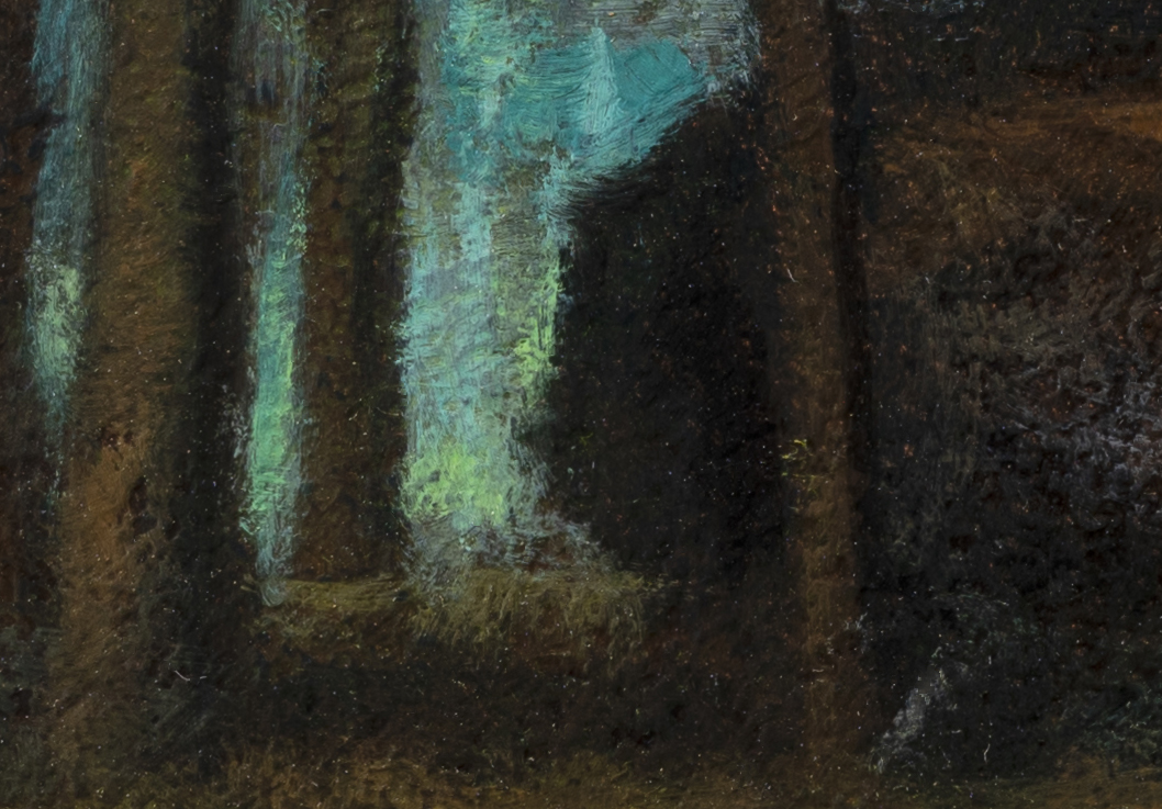 Study after: George Inness Sunset in the Woods by M Francis McCarthy -7x10 (Detail 2)