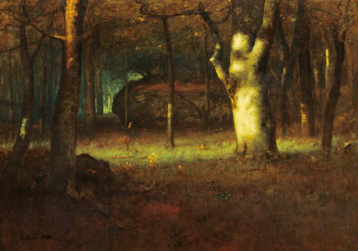 George Inness Sunset in the Woods (Original)