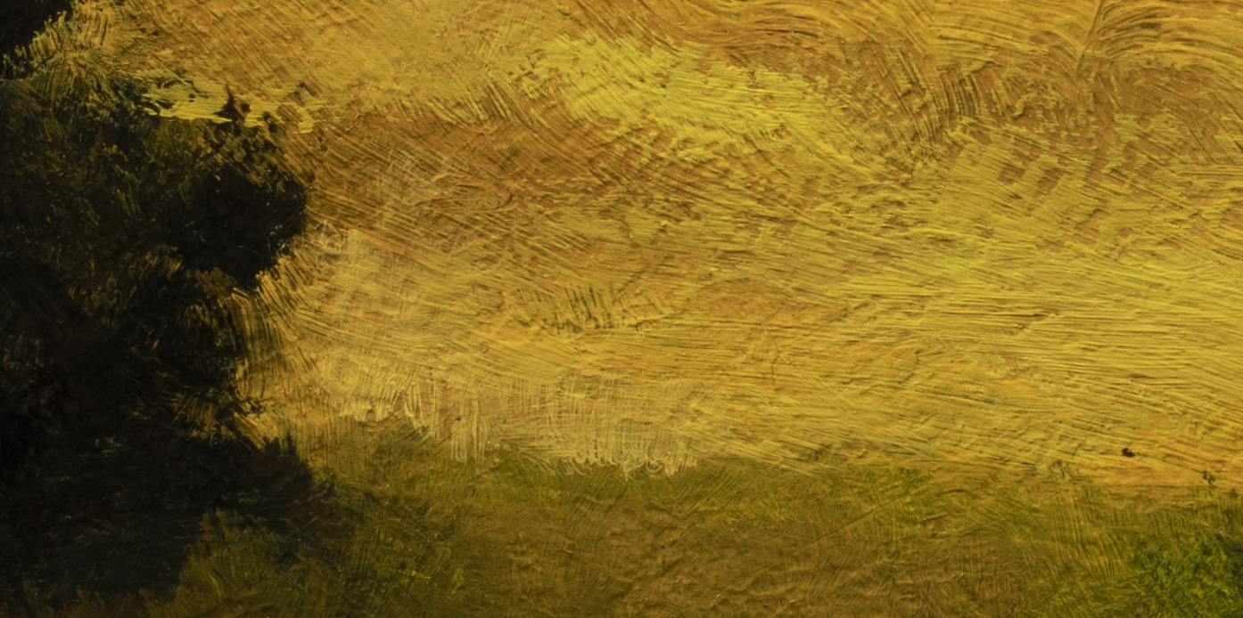 Golden Stream by M Francis McCarthy - 5x10 Oil on Wood Panel (Detail 2)