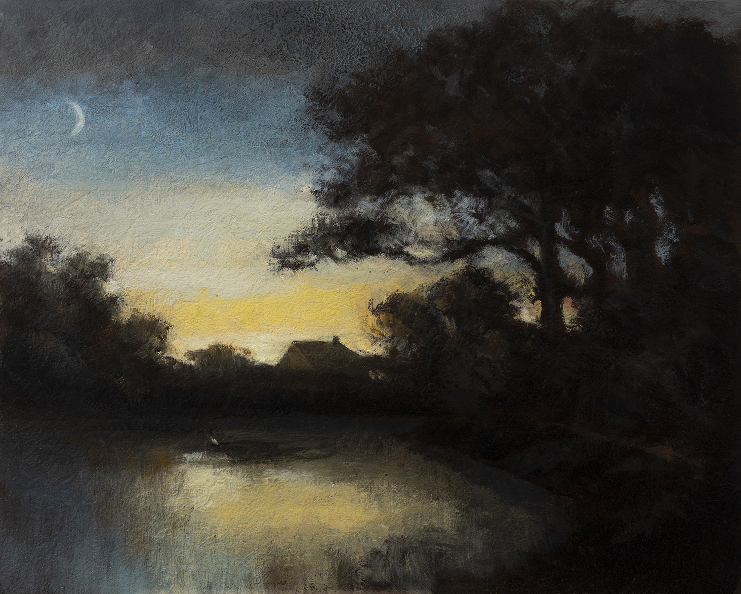 Study after: Alexander H Wyant - The Night by M Francis McCarthy - 8x10 Oil on Wood Panel