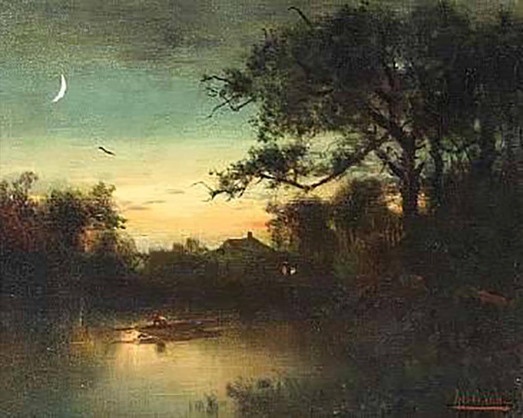 Alexander H Wyant - The Night (Original)