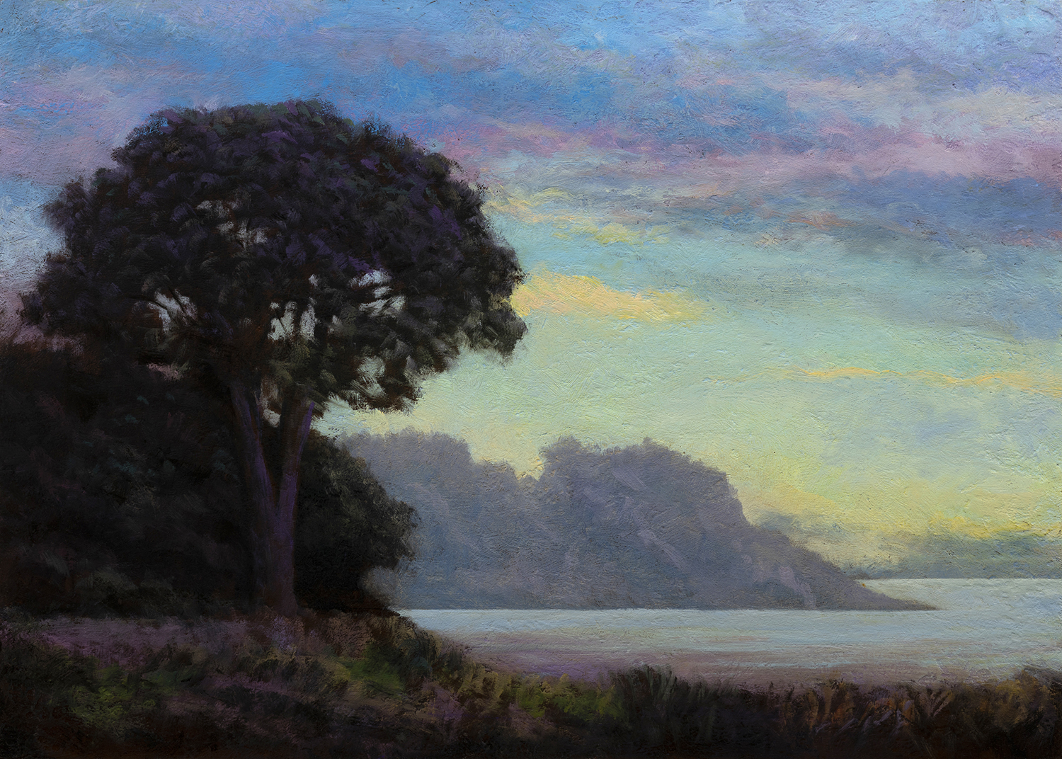 Morning by the Bay by M Francis McCarthy - 10x14 Oil on Wood Panel