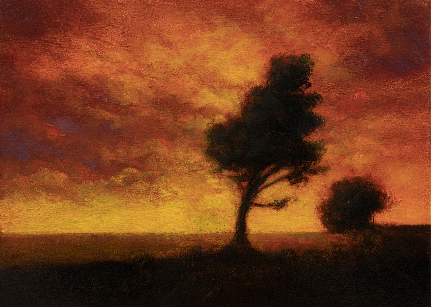 Evening Color by M Francis McCarthy - 5x7 Oil on Wood Panel