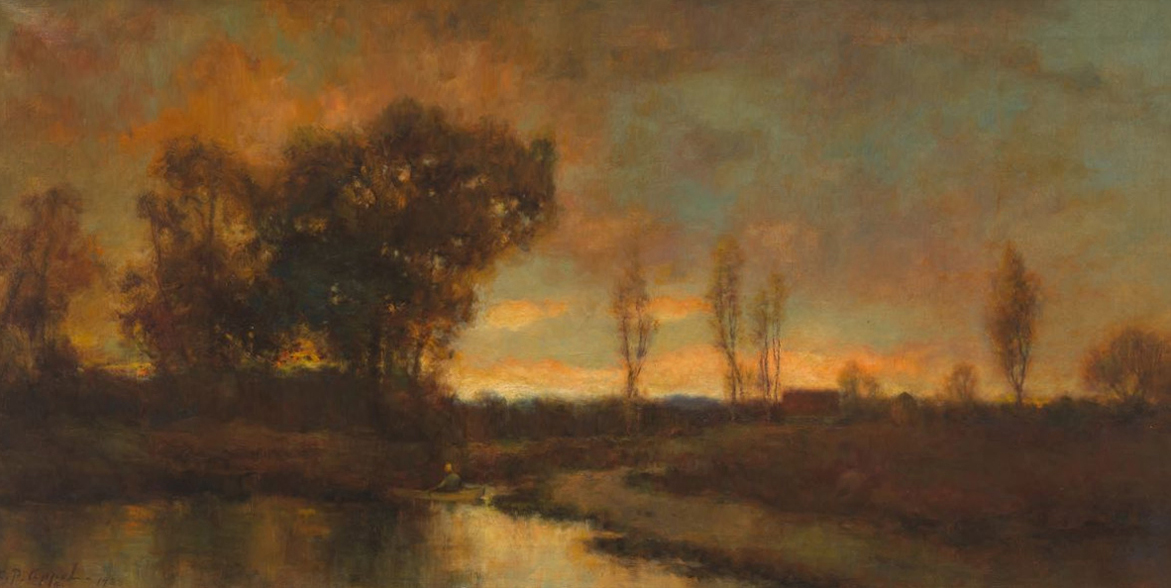 Charles Appel - Evening sunset with river (Original)