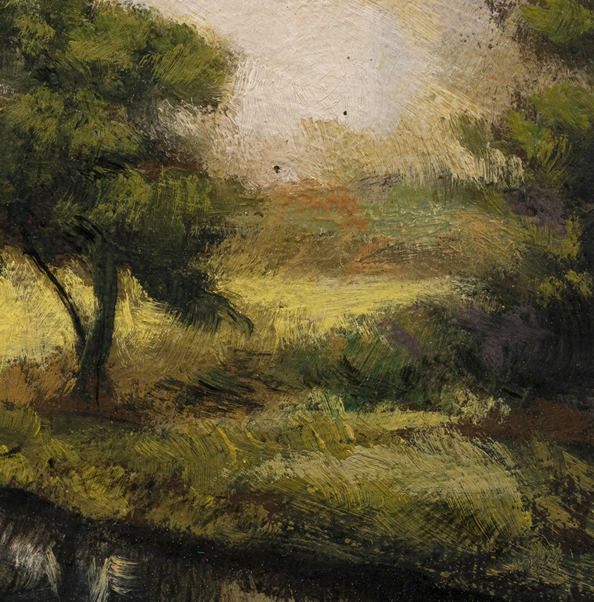 Misty Pond by M Francis McCarthy - 3½x3½ (Detail)