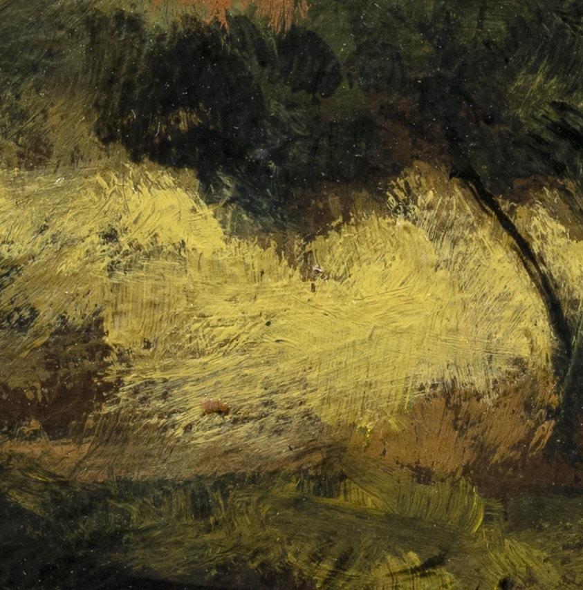 Misty Pond by M Francis McCarthy - 3½x3½ (Detail 2)